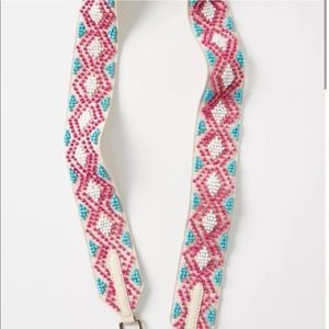 NEW Geo Beaded Bag Strap By Anthropologie